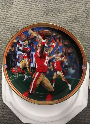 Jerry Rice history making TD collectable plate for Sale in Anchorage, AK