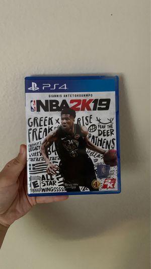 NBA 2k19 never used for Sale in Encinitas, CA