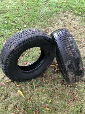 Polar tractor snow tires 235/75/15 I have other size also. Plus other truck Jeep parts 30 for the pair for Sale in Olympia, WA