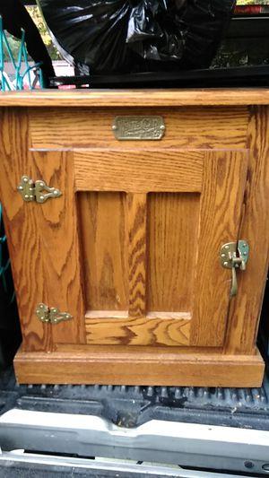 Original Vintage White Clad Solid Oak Ice Box for Sale for sale  Mill Creek, WA