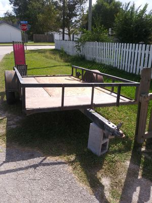 Utility trailer 10x5 no titilo no title home made for Sale in San Leon, TX