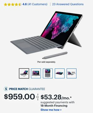 Microsoft - Surface Pro 256 GB for Sale in Glenolden, PA