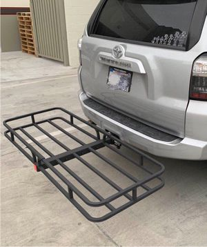 New in box XL large 62x23x5 inches 2 inch receiver mount hitch mount travel luggage basket rack 500 lbs capacity with pin canasta de enganche for Sale in Los Angeles, CA