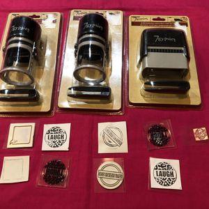 New - 3 Scrapbooking Stamps - Changeable for Sale in Arlington, VA
