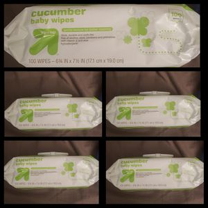 ●PICK UP BELL GARDENS● 5 PACKS OF UP&UP CUCUMBER 100 COUNT BABY WIPES (500 TOTAL WIPES) for Sale in Bell Gardens, CA