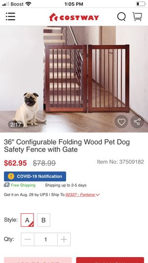 Safety fence whit gale for Sale in Moreno Valley, CA