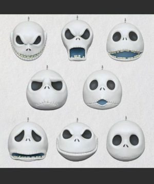 Jack Faces Mini Ornaments Nightmare Before Christmas Hallmark 2020 for Sale in Tulare, CA