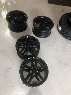 "Corvette Z51 OEM Black Wheel Rims only (no tires). Staggered 19"" front & 20"" rear. for Sale in Miami, FL"