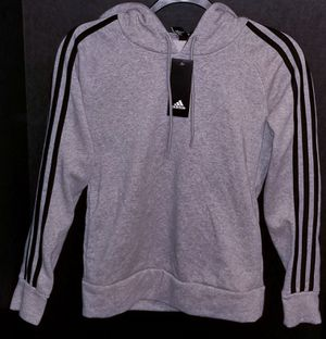 Adidas 3 Stripe Fleece Hoodie Pullover Sweater Sport Active xs NwT for Sale in Chula Vista, CA