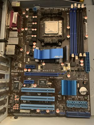 ASUS M4A77D AM3 socket motherboard for Sale in Dunn Loring, VA