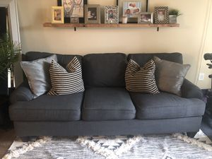 Grey couch for Sale in Herndon, VA