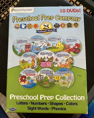 PRESCHOOL PREP COLLECTION 10 DVDs for Sale in Fullerton, CA