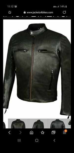 New/tags/L//Jackets4bikes./leather-motorcycle/mens-infinity-airflow-perforated-leather-motorcycle-armor-biker-jacket for Sale in Las Vegas, NV