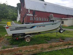 1987 14 ft. Grumman Fishing boat with trailer for Sale in Rapidan, VA