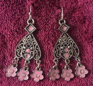 Beautiful, floral chandelier earrings for Sale in Midlothian, VA