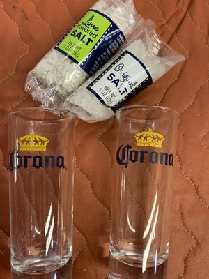 2 Vintage Collectible Corona Shot Glasses with Salt! for Sale in Santa Clarita, CA