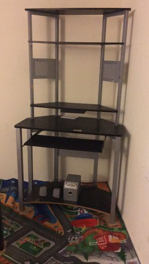 Compact & robust aluminum computer desk/ rack for Sale in San Jose, CA