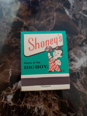 Vintage Shoneys Big Boy matchbook for Sale in Riverside, CA