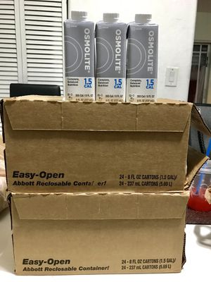 OSMOLITE Balanced Nutrition 1.5 CAL (Make Me An Offer, Not Free) for Sale in Medley, FL