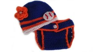 Custom to Baby Girl NY Mets Inspired Baseball Flower Button Sports Fan Photo Prop Adjustable Diaper Cover and Beanie Hat Set for Sale in East Hartford, CT