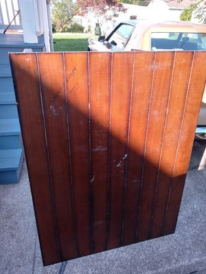 Brown wooden table with two chairs for Sale in Valley View, OH