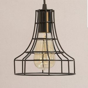 2 Vintage Instrutrial Metal Cage Pendant Lamps Chandelier for Sale in Canoga Park, CA