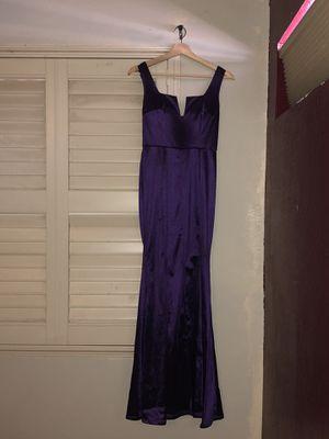 formal purple satin dress for Sale in Phoenix, AZ