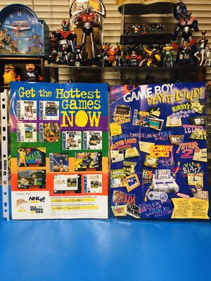 Nintendo Game Boy Video Games Double-Sided Official posters/inserts set. for Sale in Hawthorne, CA
