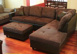Brand new brown microfiber sectional couch for Sale in Portland, OR