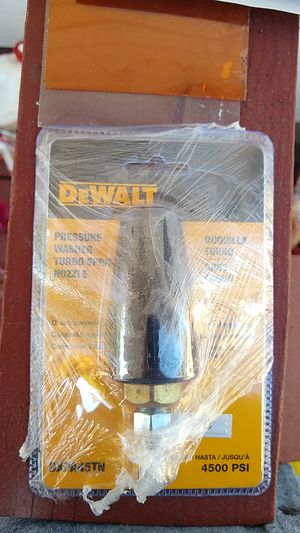 DeWalt pressure washer turbo nozzle 4500 PSI for Sale in Klamath Falls, OR