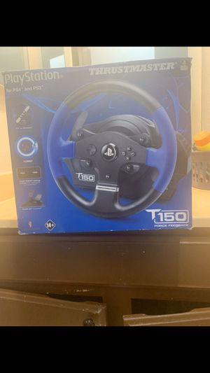 thrust master steering wheel ps4/ps3/Pc for Sale in Hayward, CA