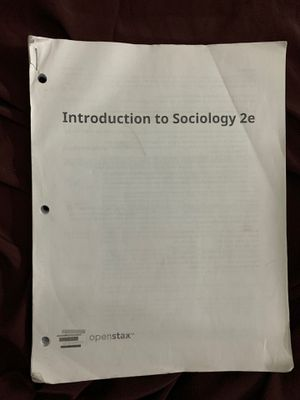 Introduction to sociology 2e textbook ( paper textbook) ! for Sale in Walnut, CA