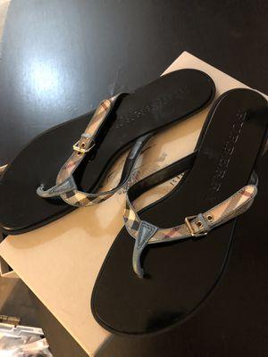 Brand New Burberry Flip Flops (Size 8) for Sale in Novi, MI