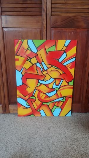 Original Graffiti Art Painting Abstract Artwork Hanging wall decor for Sale in Glen Ellyn, IL