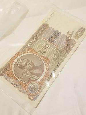 African 1 Un Zaïre, Banque De Zaïre, Promisary Note, Legal Tender, Uncirculated, African Currency (CC4618999C) for Sale in San Diego, CA