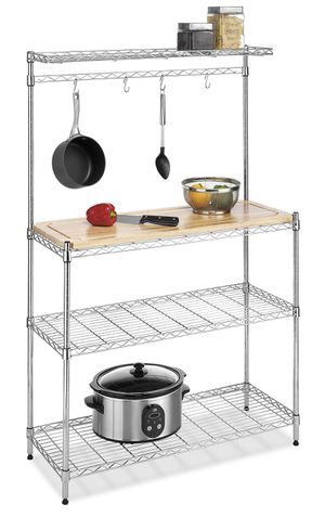 Whitmor Supreme Baker?s Rack with Food Safe Removable Wood Cutting Board - Chrome for Sale in Cincinnati, OH