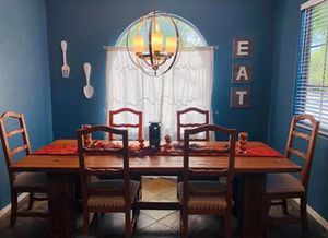 Large Solid Wood Table for 10 for Sale in Queen Creek, AZ