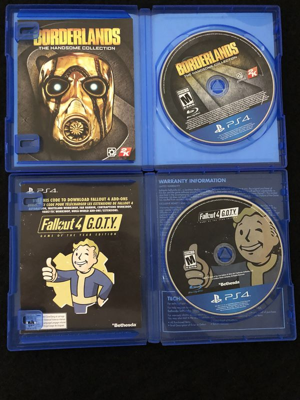 PS4 fallout 4 GOTY and Borderlands for Sale in North Las Vegas, NV - OfferUp