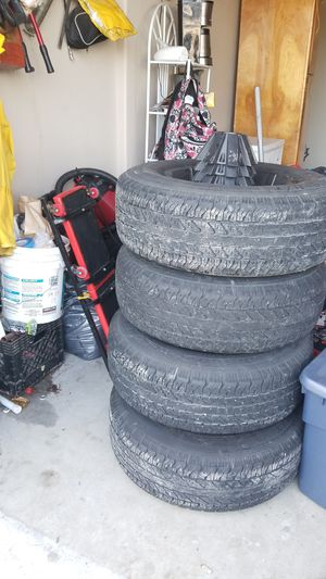 Set of 4 coopers tires and rims. for Sale in White City, OR