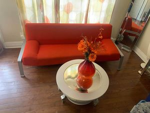 Modern Orange Futon for Sale in Swansea, IL