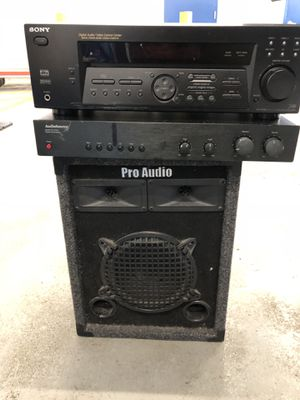 Sony +audio source +pro audio 3parts for Sale in Bronx, NY