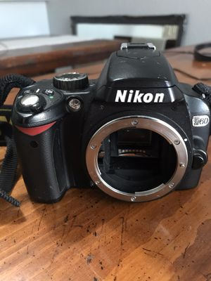 Nikon D60 with 18-55mm and 55-200mm lenses and a charger for Sale in Phoenix, AZ