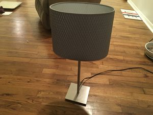 Table lamp. Gray mesh. With working light bulb for Sale in Dallas, TX