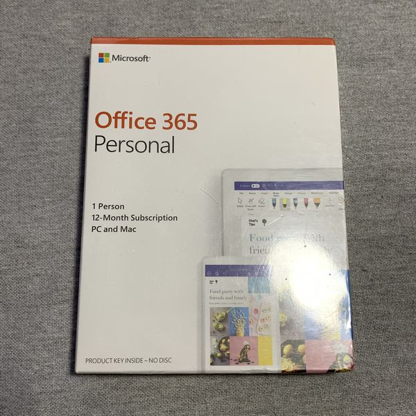 BRAND NEW Microsoft Office 365 Personal (1 person, 12 month subscription)