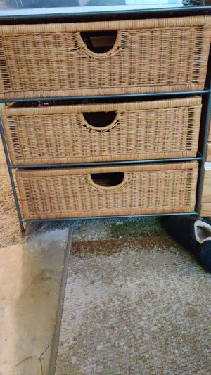 Wicker storage drawers for Sale in Vista, CA