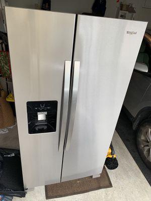 Whirlpool - 24.6 Cu. Ft. Side-by-Side Refrigerator - Stainless steel Model:WRS325SDHZ for Sale in Clarksburg, MD