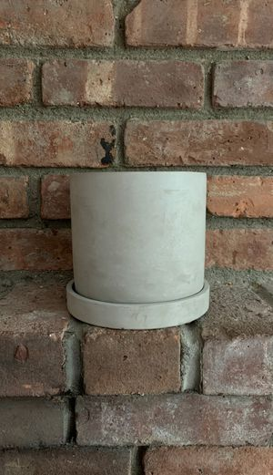 """6"""" diameter cement plant pot for Sale in New York, NY"""