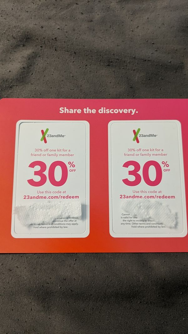 30% off discount codes for 23andme