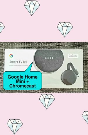 New Smart TV Kit Google Home Mini Bluetooth Smart Speaker & Chromecast to cast your phone's screen to TV for Sale in Hollywood, FL