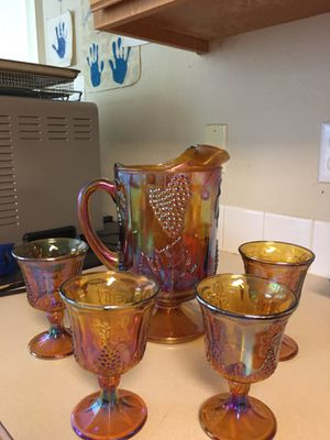 Antique Amber Carnival glass pitcher for Sale in Tigard, OR
